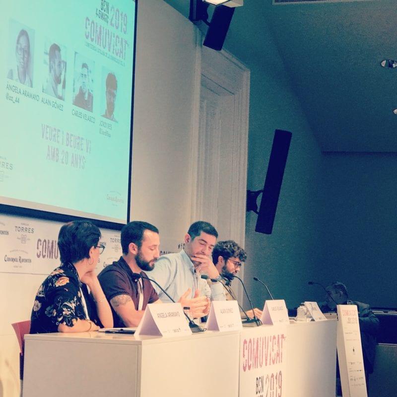 L'equip De Zip Zap Social, A La I Conferència Catalana De La Comunicació I El Vi